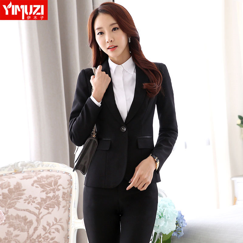 2016 autumn and winter wear chaps ol ladies long sleeve ms. slim business suits overalls interview suits