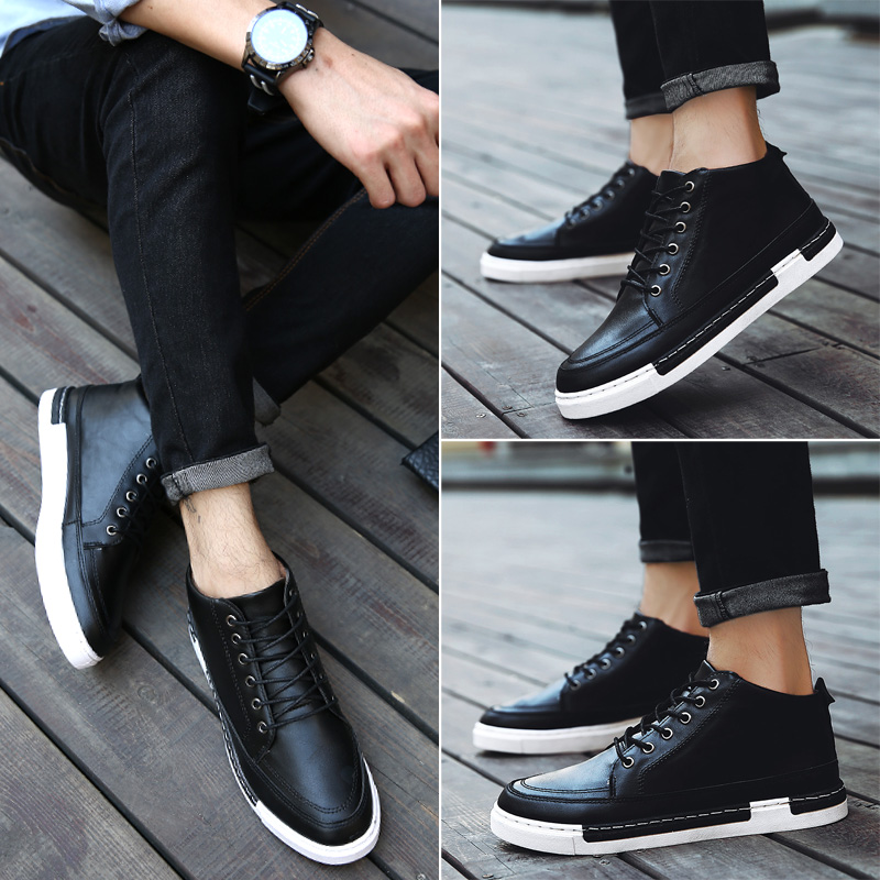 2016 autumn and winter wind of england men's new men high shoes men high shoes tide leisure shoes tide shoes youth