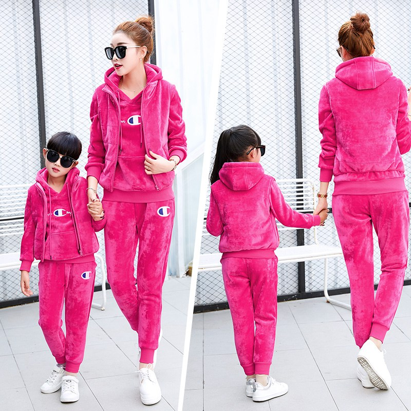 2016 autumn new big yards leisure suit female paternity suit sportswear suit female autumn and winter sports suit three sets