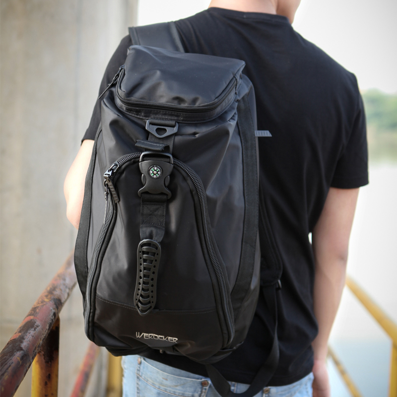 3f3225c78d9d Get Quotations · 2016 basketball mountaineering backpack shoulder bag  fashionable male sports and fitness bucket bag korean version of