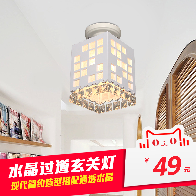 2016 brand new creative modern minimalist room ceiling lamp crystal lamp aisle lights entrance corridor