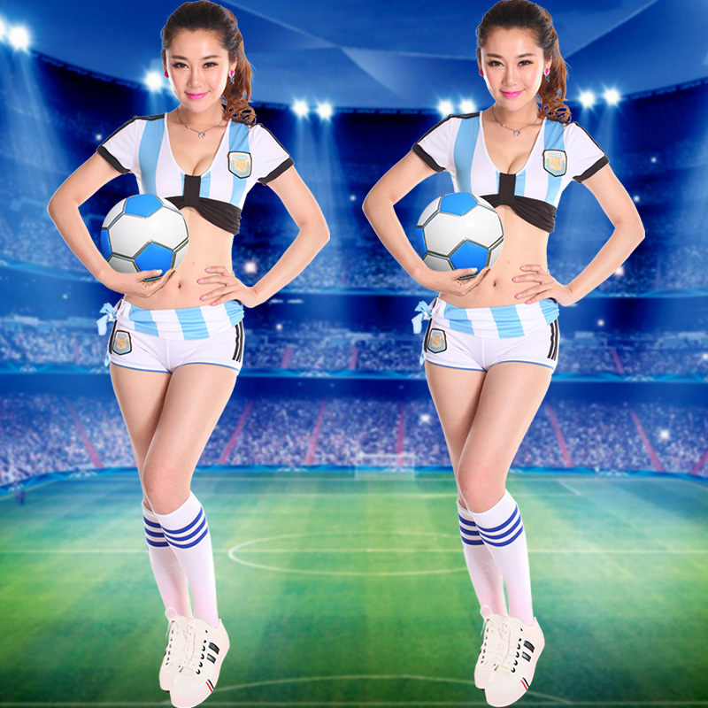 c5d921dbe Get Quotations · 2016 european cup soccer jersey argentina bar ds  performance clothing lead dancer clothes cheerleading football baby