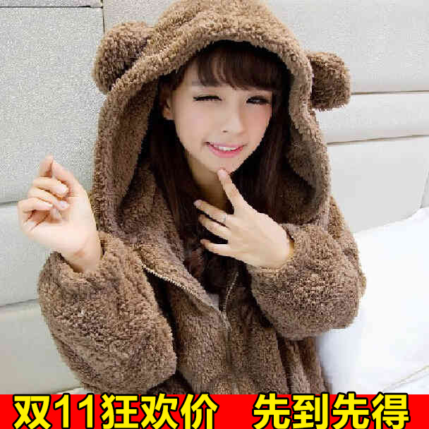 2016 fall and winter clothes maternity fall and winter woolen coat korean version of loose big coat and winter clothes for pregnant women long sleeve plush
