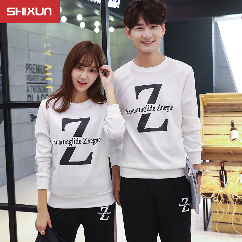 2016 hitz korean fashion slim sweater leisure sports suit two piece suit lovers students