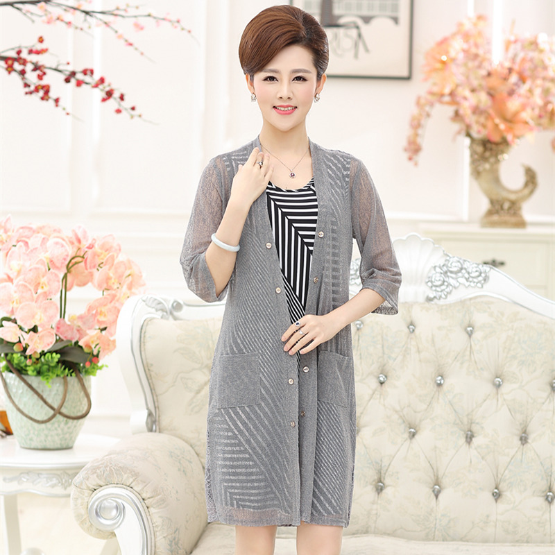 2016 hitz middle-aged middle-aged women's summer 30-40-year-old middle-aged lady mother dress piece dress