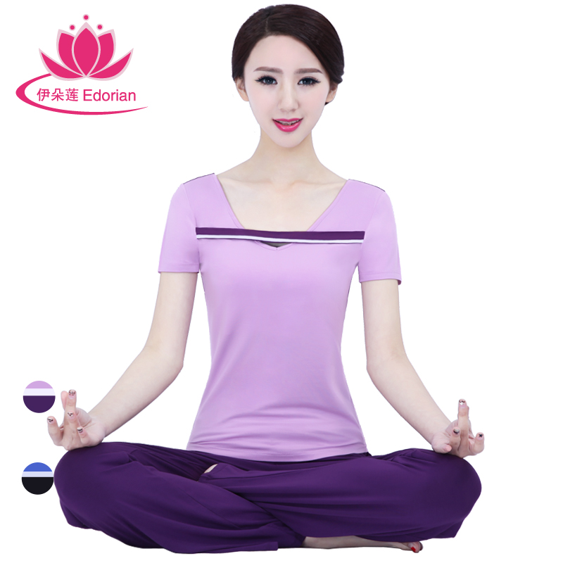 2016 iraq lotus flower yoga clothes new spring and summer short sleeve suit sports and fitness yoga increasingly workout clothes female performance clothing