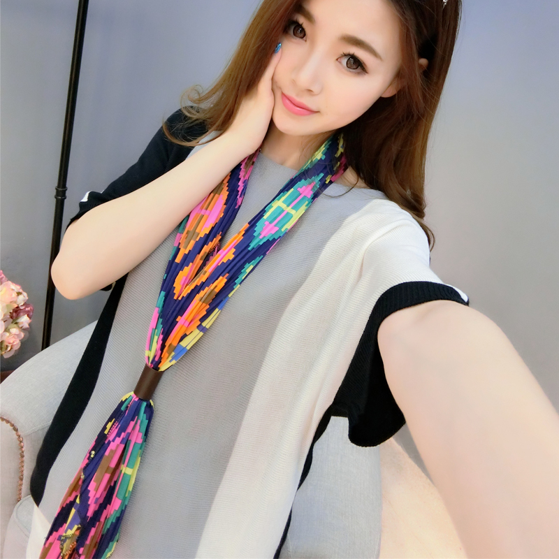 2016 korean version of spring and summer duo of hundreds of millions of respect for occupational small square scarves silk shawl dual female wild scarf scarf with disabilities