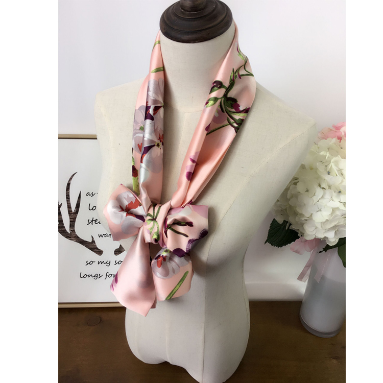 2016 korean version of spring and summer satin occupational small square scarves ms. wild long scarf scarf scarf scarf accessories