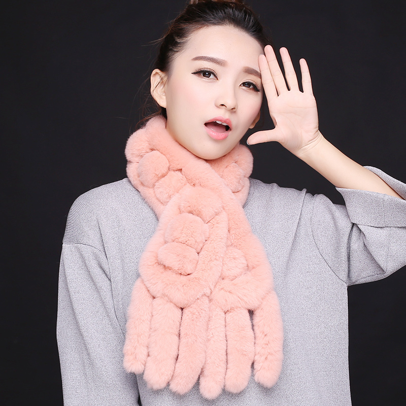 2016 korean version of the influx of warm autumn and winter long section rex rabbit fur scarf collars rabbit fur collar scarf female winter
