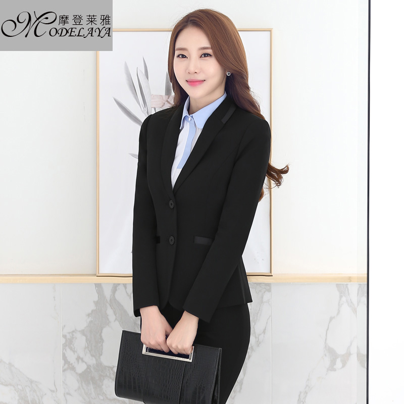 2016 long sleeve collar temperament ladies wear suits korean slim business suits career suits overalls