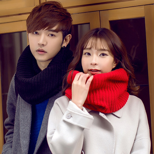 2016 new autumn and winter days tide korean men thick wool scarf knitted scarf hedging female couple solid student