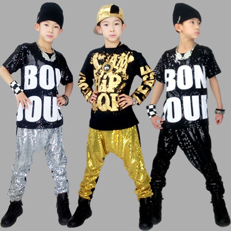 2016 new children's hip-hop hiphop hip hop jazz dance costumes children costumes performance clothing for boys and girls clothes tide