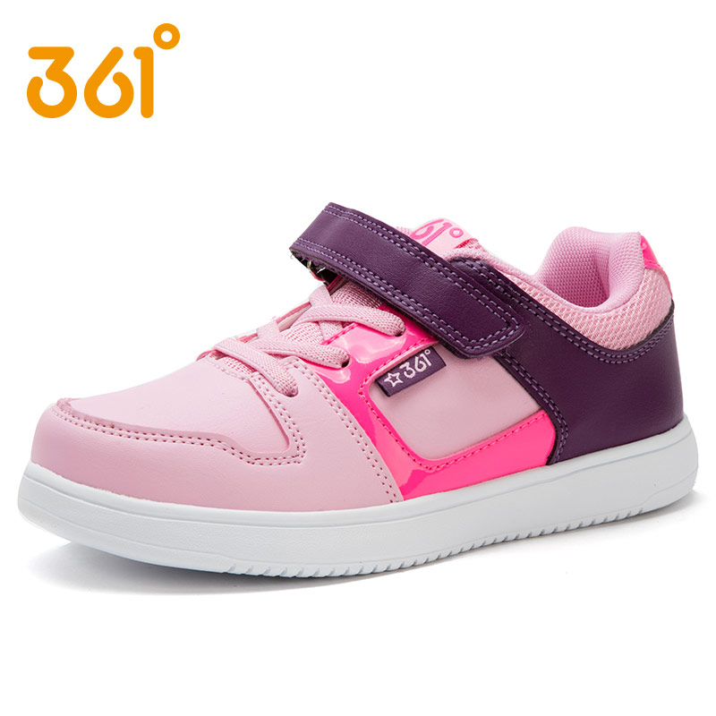 2016 new fall 361 shoes girls shoes leather sports shoes running shoes for children pupils 361 degrees