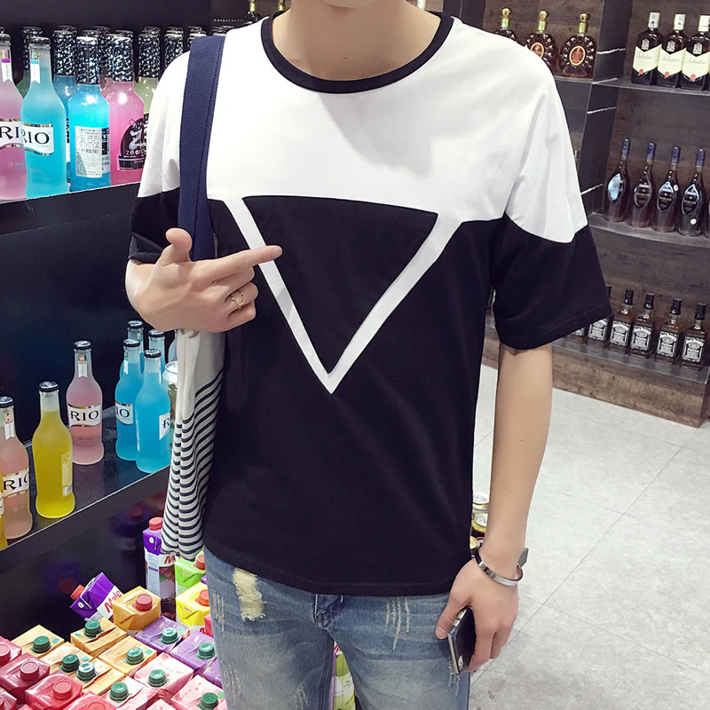 2016 new fall trend of men's t-shirt slim korean male high school students sweater plus large size men's clothing trend