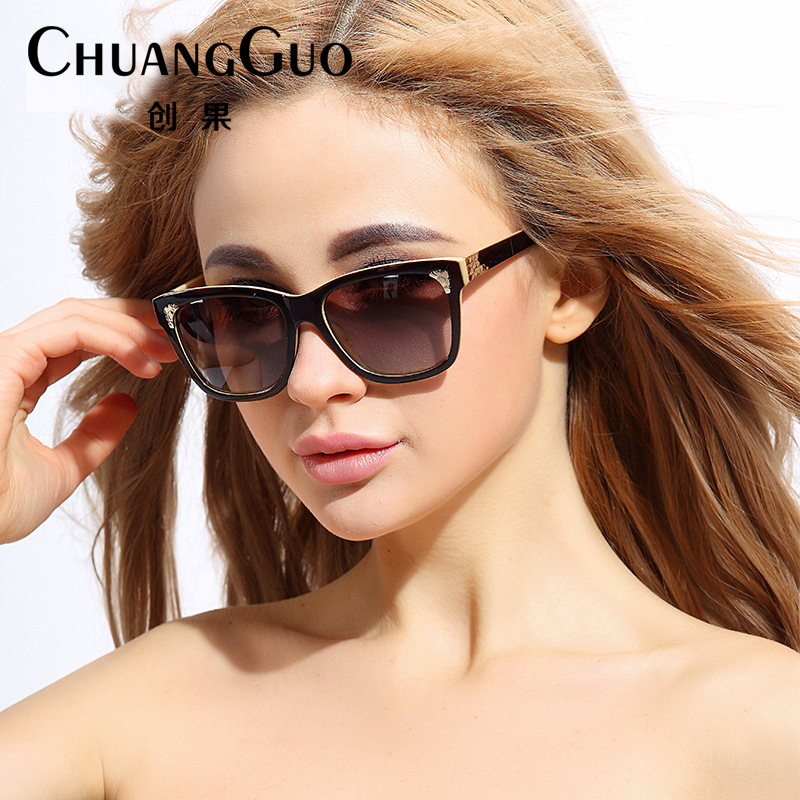 cafb5ba5fcd Get Quotations · 2016 new female korean version of the influx of korean  retro sunglasses round face long face