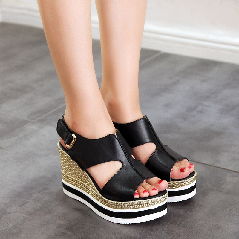 df4d03933 Get Quotations · 2016 new high heels shoes children korean version of the  slope with platform sandals women shoes