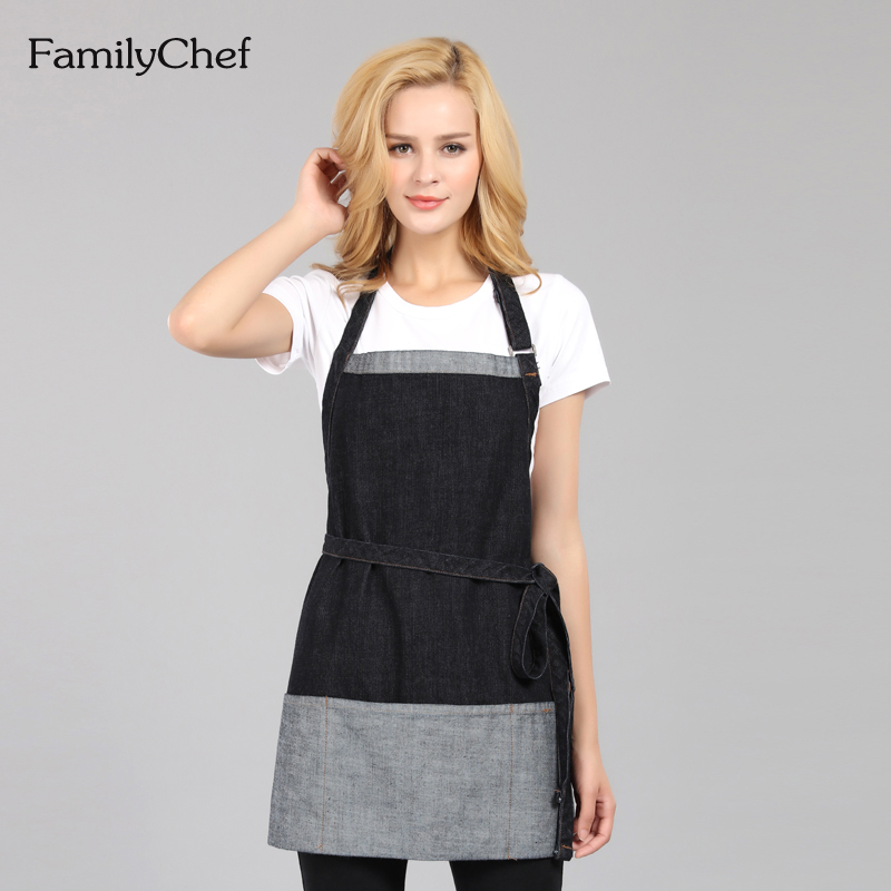 2016 new korean version of the home kitchen apron restaurant bakery cafe overalls cotton apron halter