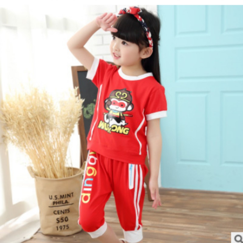 2016 new men's short sleeve suit performing service activities clothes kindergarten classes serving students in school uniforms game service