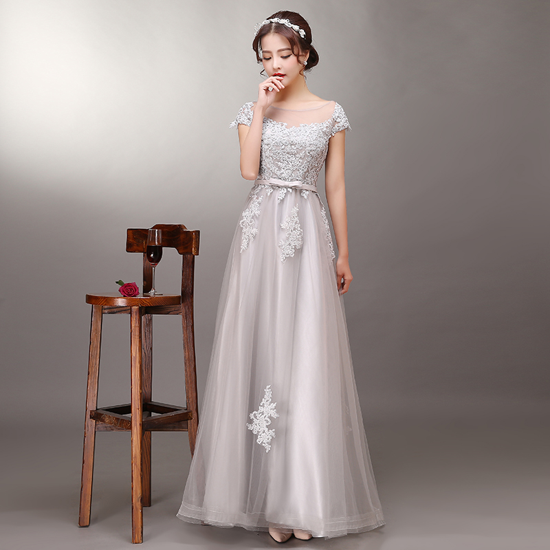 2016 new summer fashion banquet evening dress moderator dress evening dress slim was thin female models
