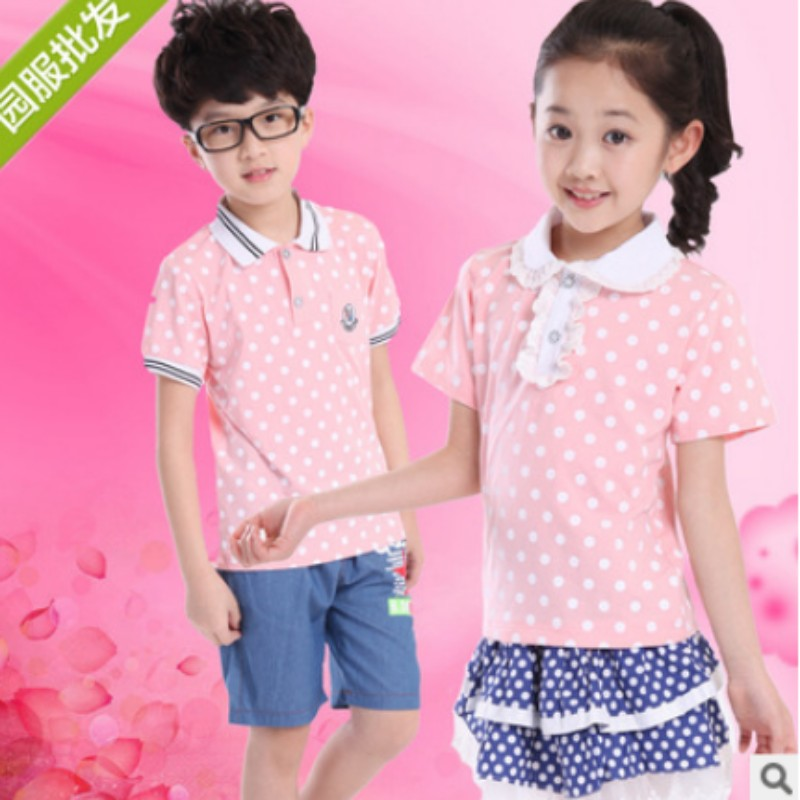 2016 new summer short sleeve printing diy six activities costumes kindergarten classes serving students school uniforms