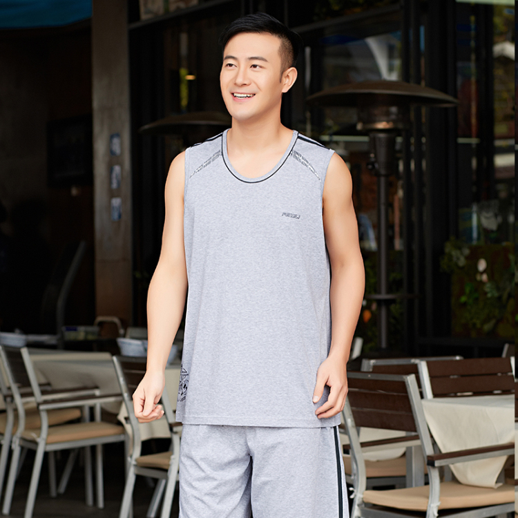 2016 new summer shorts and sleeveless vest men's sports suit casual wear jogging basketball clothes authentic thin section
