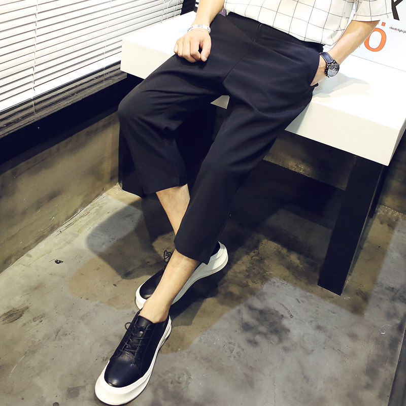 63039ed19217 Get Quotations · 2016 new summer trend of hong kong style casual cropped pants  harem pants trousers men s casual
