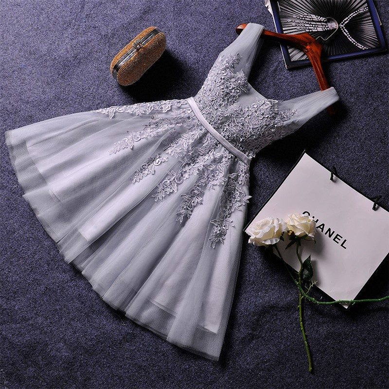 2016 new wedding bridesmaid dress short paragraph small ceremony dress red toast clothing sisters skirt dress princess dress bridesmaid dress was thin