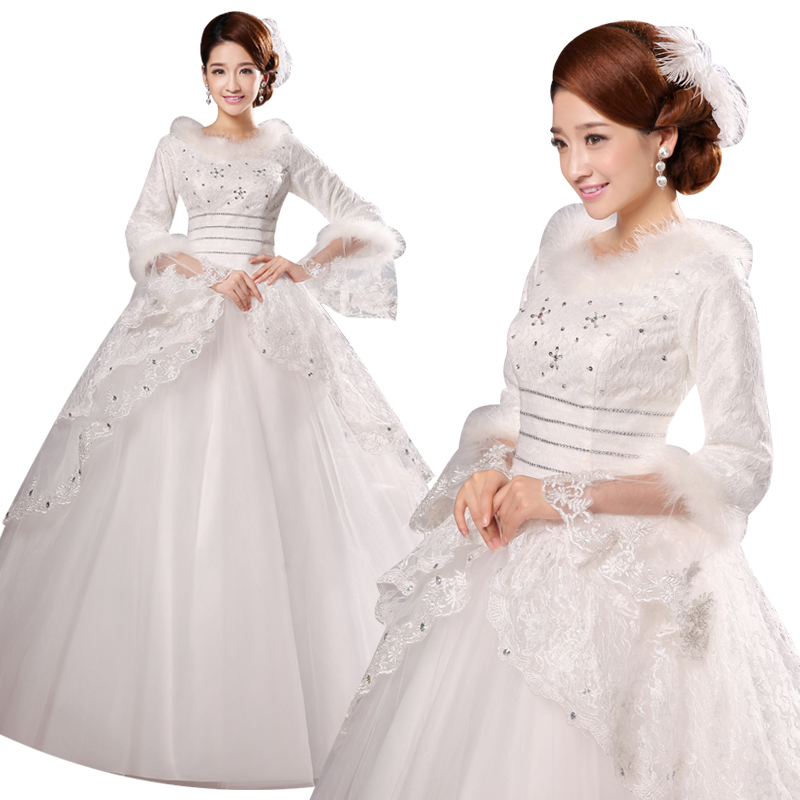2016 new wedding dress quilted winter wedding dress slim was thin special offer free shipping wedding