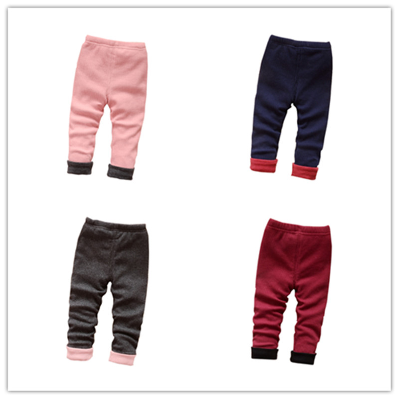 2016 new winter girls plus thick velvet leggings 0-1-2-3-year-old female baby long pants children pants winter