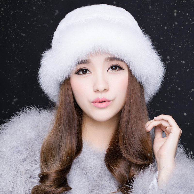 2016 rabbit fur hat female winter fox fur hat rex fur grass hat lady hat korean autumn and winter days