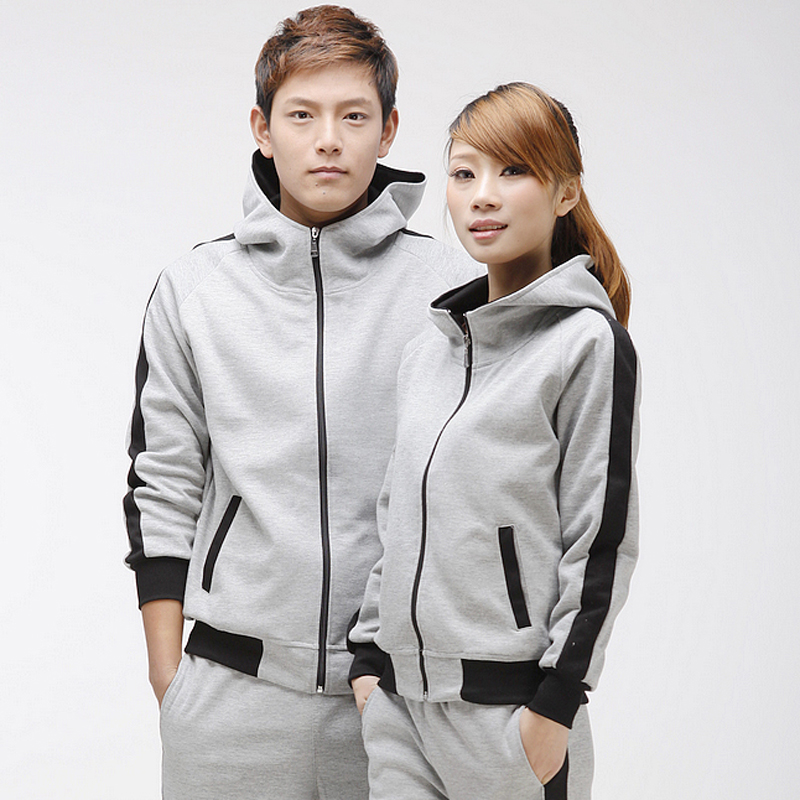 2016 spring and autumn couple track suit large size small yards casual clothes for men and women running loose sportswear fitness