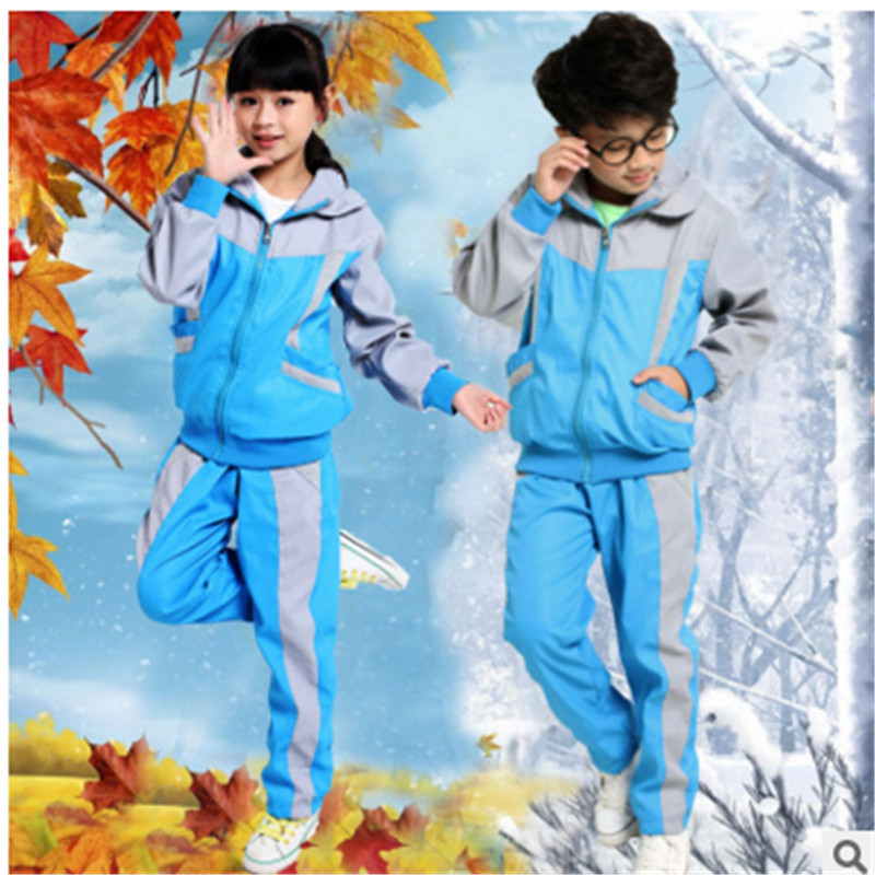 2016 spring and autumn new paragraph kindergarten students dress uniforms uniforms for men and women the same paragraph children's sportswear uniforms