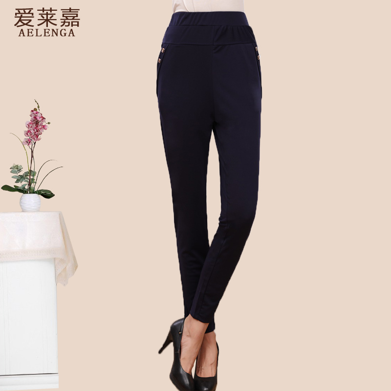 2016 spring and autumn section of middle-aged middle-aged women's pants trousers ms. middle-aged mother straight jeans pants casual leggings