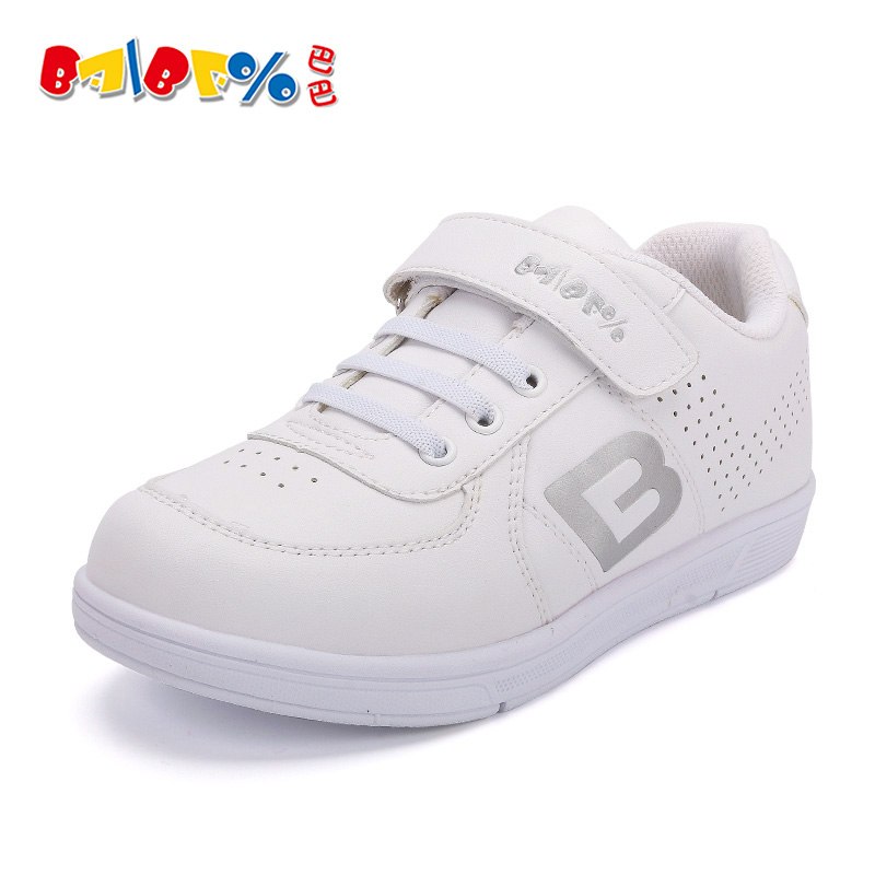 2016 spring and autumn shoes children's shoes white sneakers white sneakers white sneakers boys girls running shoes casual shoes campus students