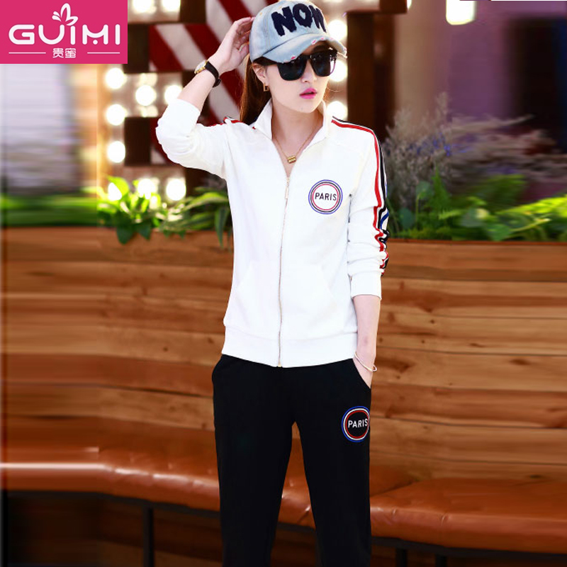 2016 spring and autumn women's trousers sweater girls junior high school students leisure college wind middle school sports clothes tide