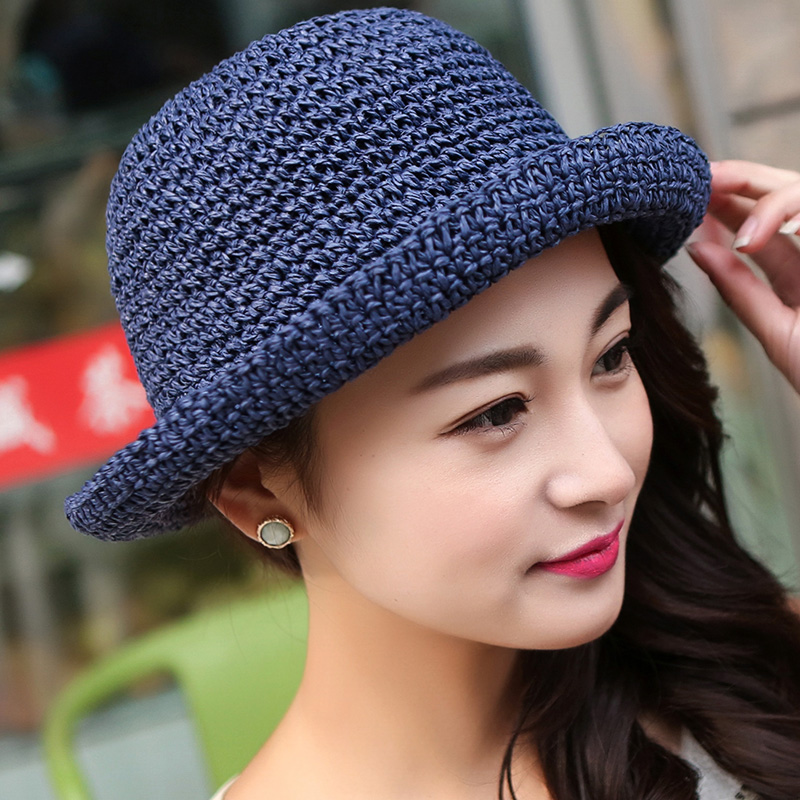2016 spring and summer hat female sun hat sun hat hat hand made straw hat korean version of the adolescent shopping