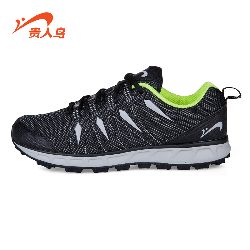 2016 spring and summer new men's elegant birds genuine breathable running shoes outdoor sports shoes slip resistant damping