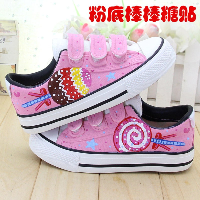 2016 spring and summer women's shoes children canvas shoes sneakers shoes cartoon princess shoes korean version of velcro sneakers