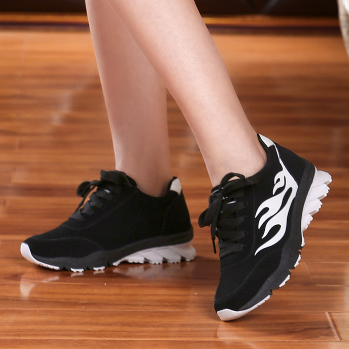 2016 spring new lace flat shoes flat shoes korean version of the influx of sports shoes running shoes student shoes round bottomed shoes