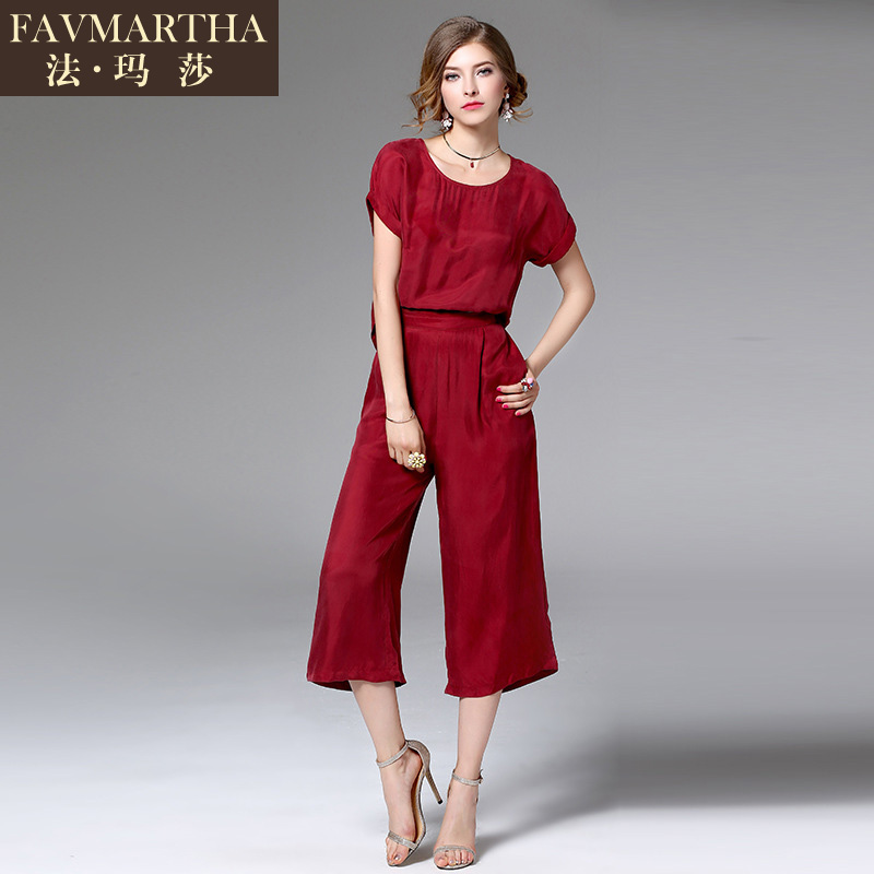 2016 summer and new european and american fashion brandæ³çèmaroon casual short sleeve dress female