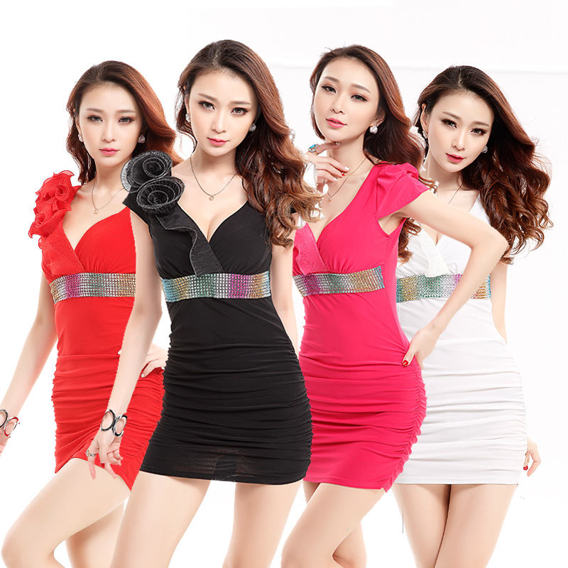 2016 summer dress princess dress sauna technician ktv nightclub nightclub night games bar clothing small skirt sister