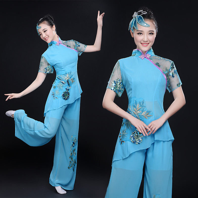2016 summer national classical dance yangko dance clothing square dance costumes female fan son dance drum dance suit
