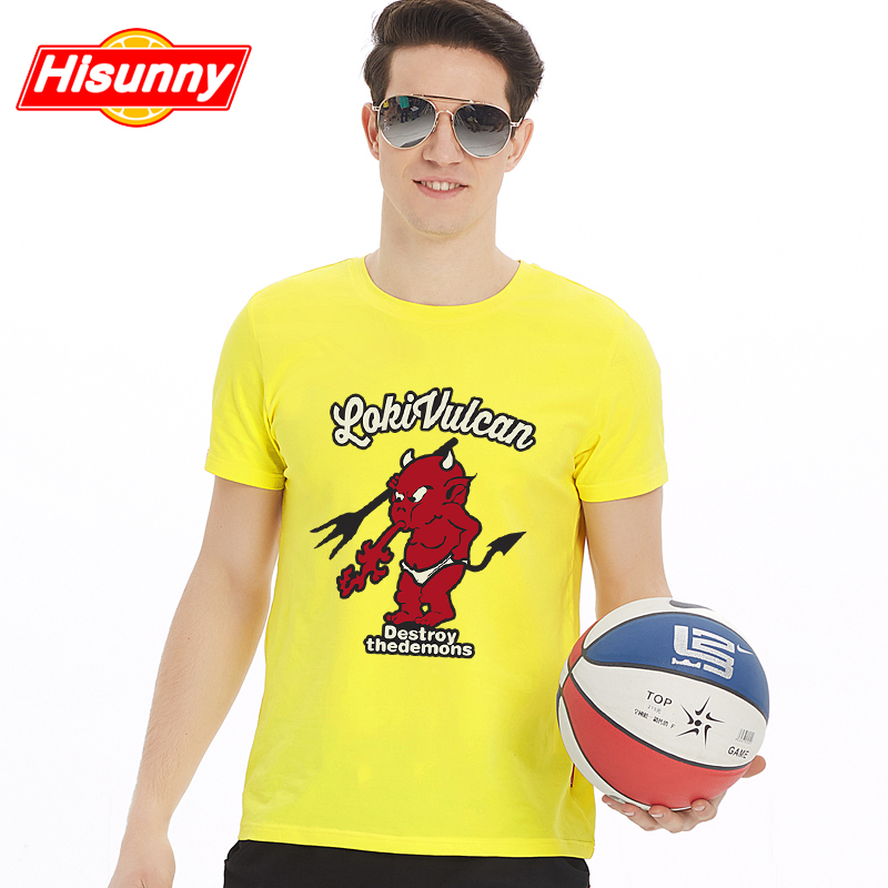 2016 summer new japanese cartoon sleeve cotton skinny men short sleeve t-shirt on clothes bottoming shirt tide vulcan