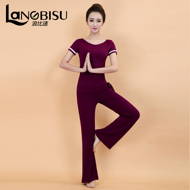 2016 summer new langbisu short sleeve yoga clothes increasingly workout clothes yoga workout clothes suit female fashion