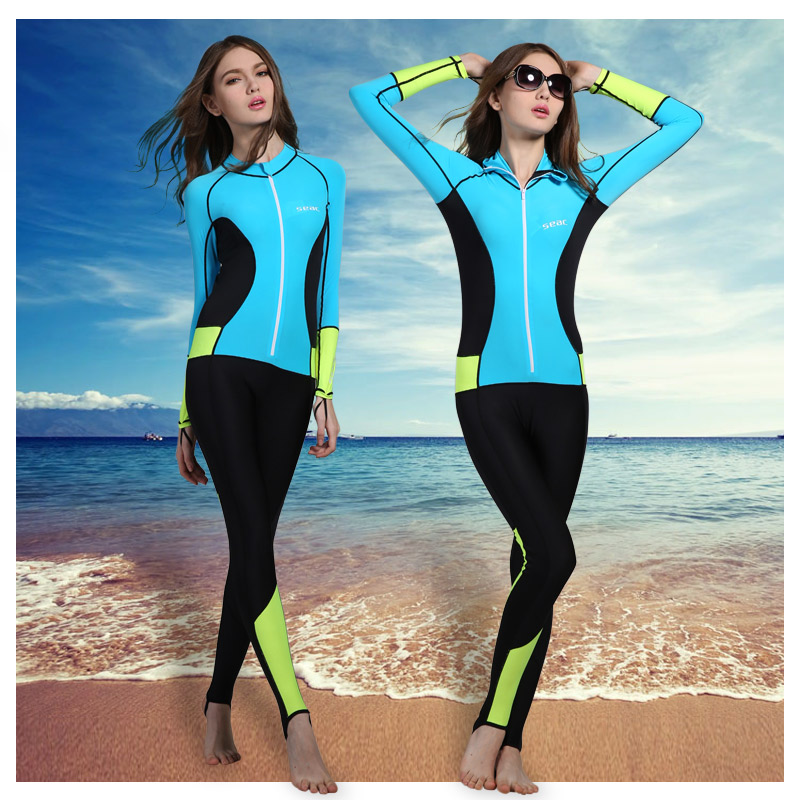 Get Quotations · 2016 summer new long sleeve piece wetsuit wetsuit jellyfish swimming warm sun surf clothing piece