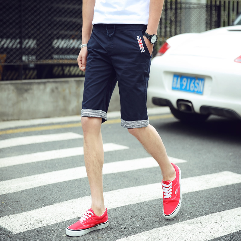 2016 summer shorts male korean version of casual pants influx of men slim pants feet adolescent male sports pants shorts