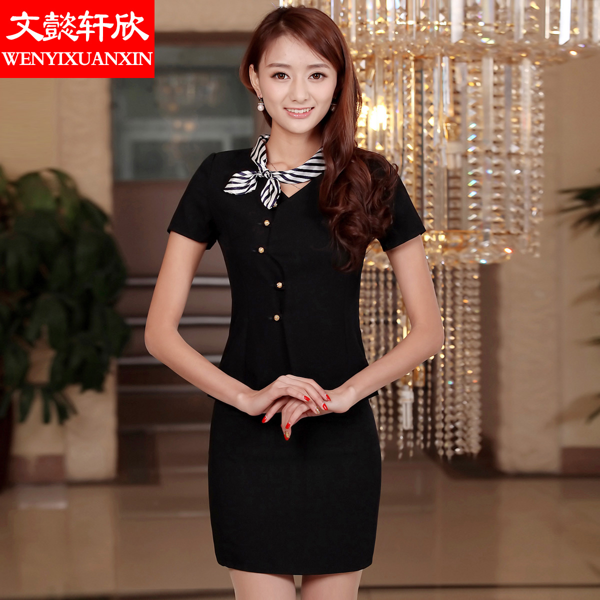 2016 summer slim short sleeve dress korean women wear suits ol skirt suits piece overalls