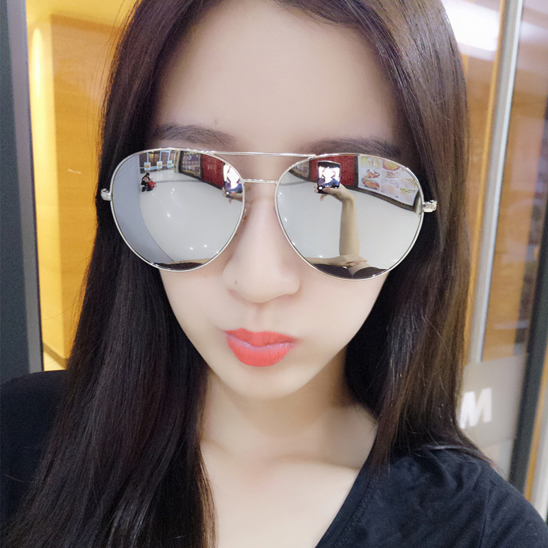 2016 victoria color film glasses sunglasses female influx of men's round face polarized driving sunglasses yurt influx of division of the machine