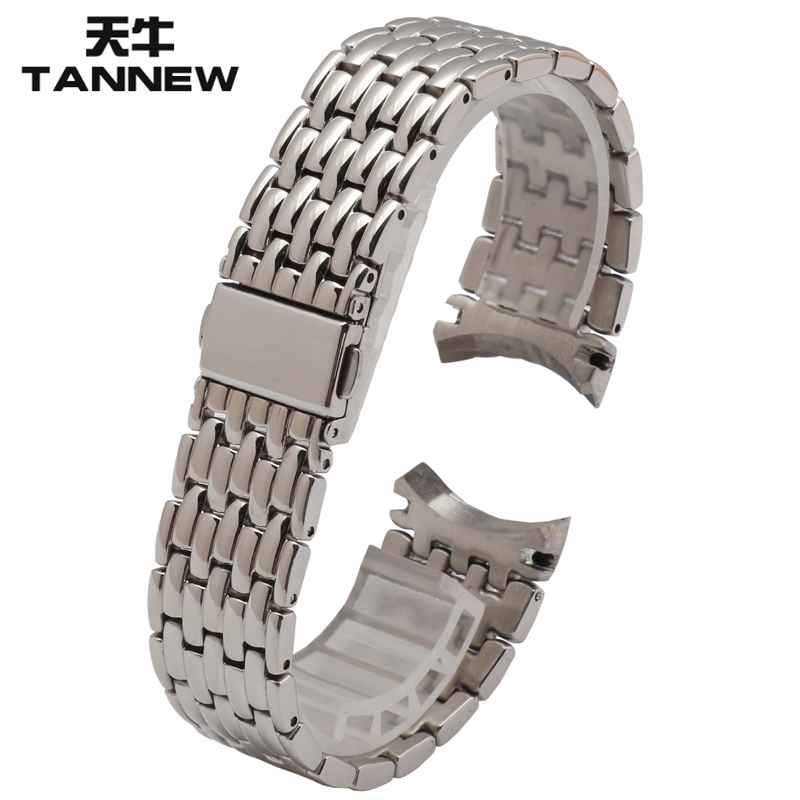 22mm solid steel strap steel chain longicorn replacement citizen men's watch accessories nh8240-57ab