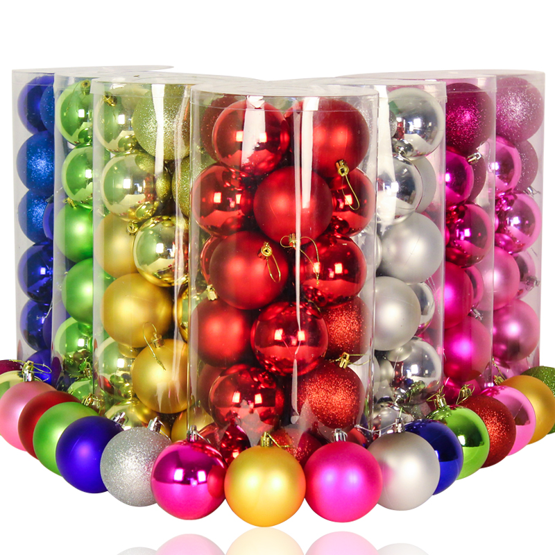 24 4cm6cm8cm christmas decorations 8cm christmas ball light ball christmas ball plating ball christmas tree